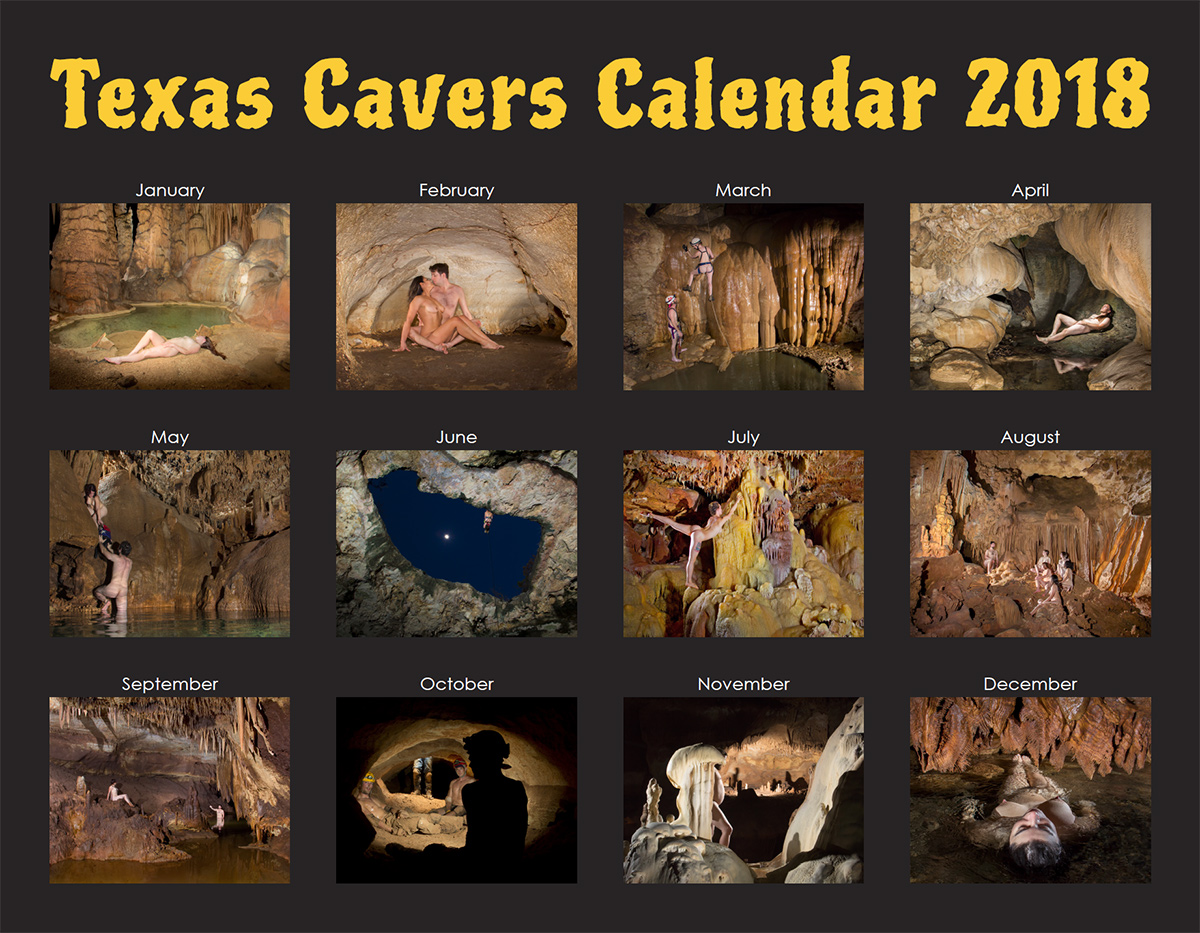 Texas Cavers Calendar 2018