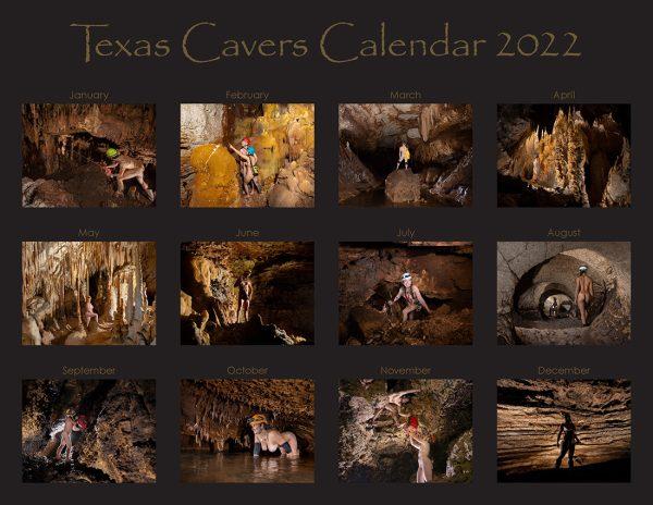 Texas Cavers Calendar 2022 Back Cover