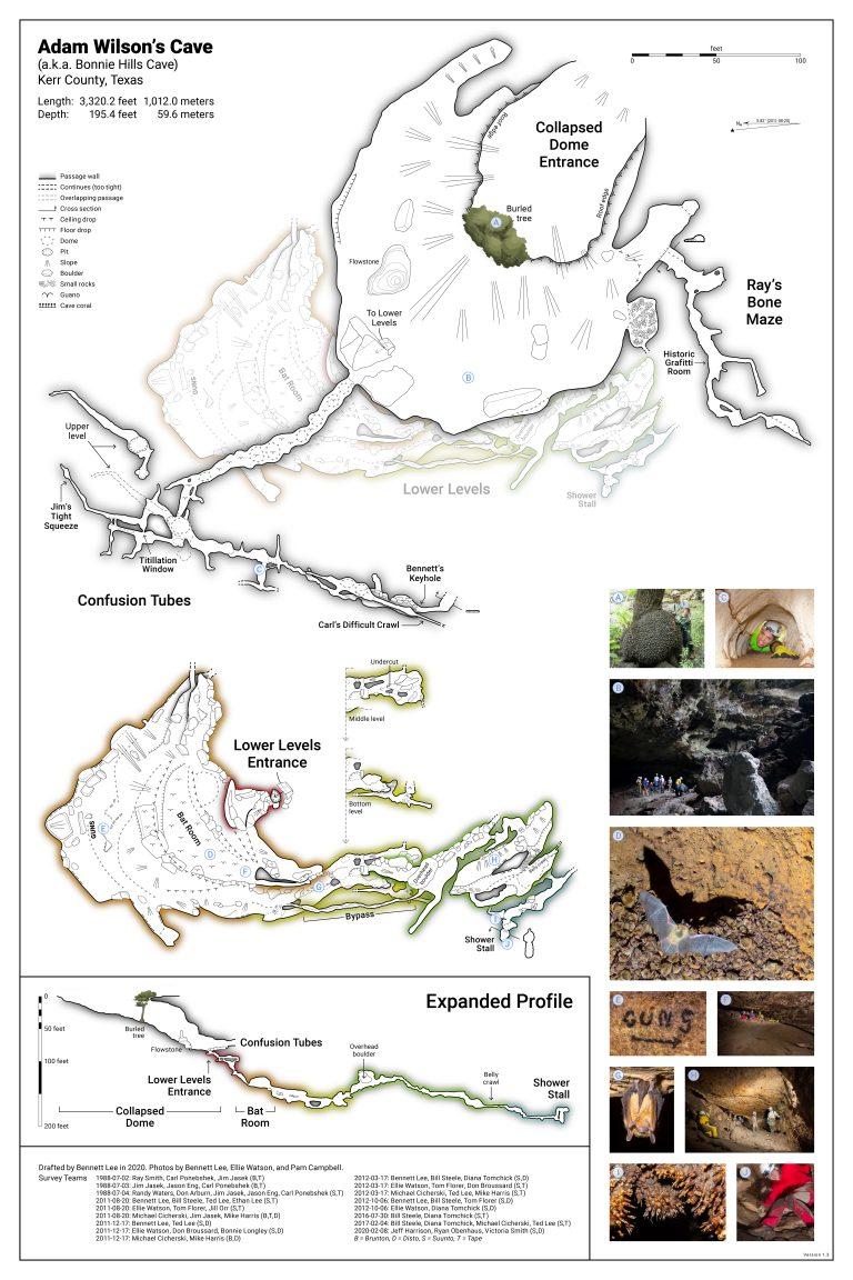 Adam Wilson's Cave map