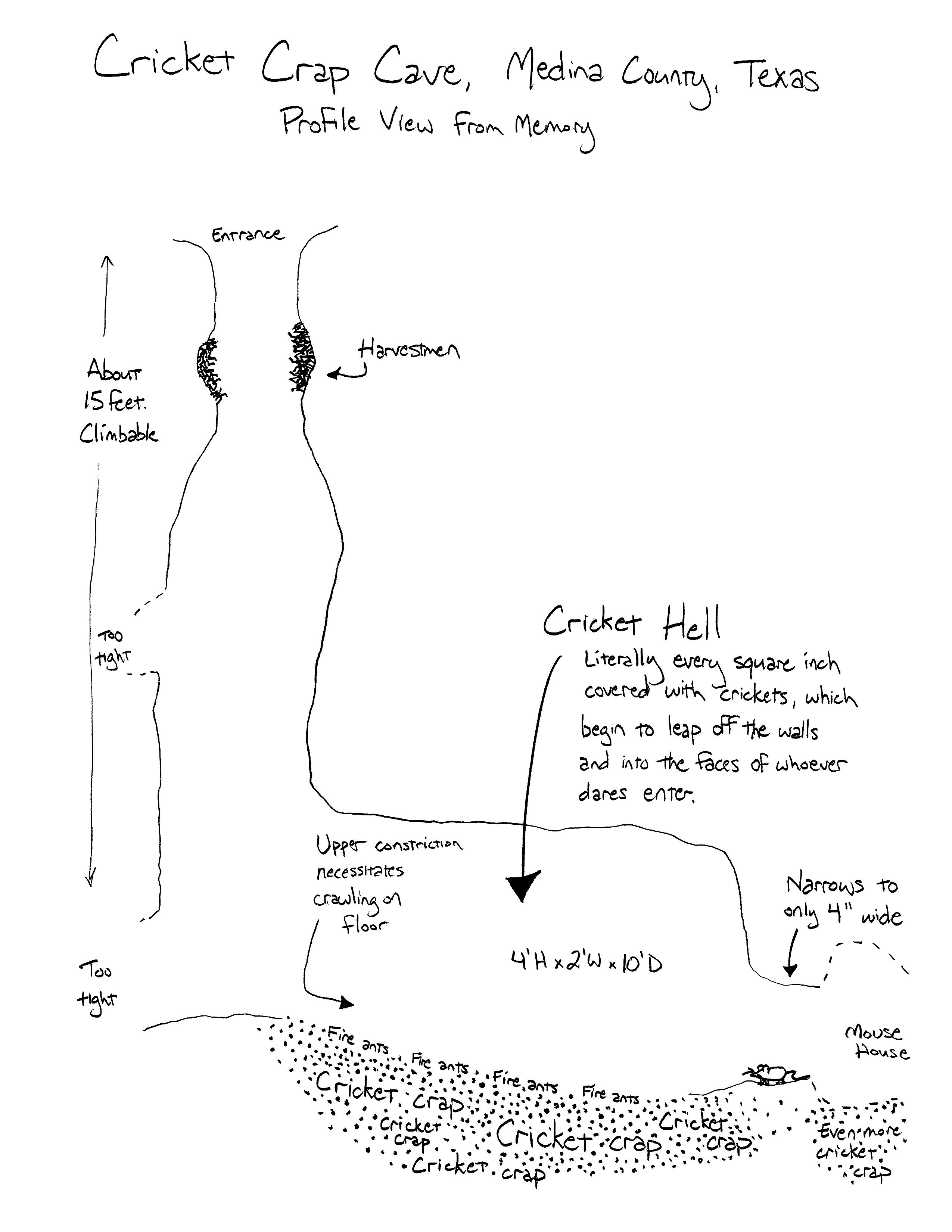 Cricket Crap Cave map