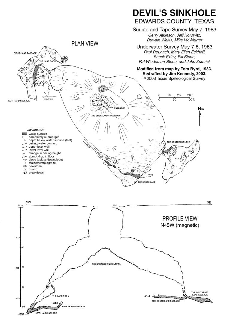 Devil's Sinkhole map