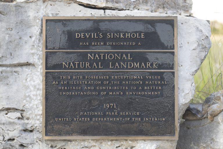Devil's Sinkhole National Natural Landmark, 1971