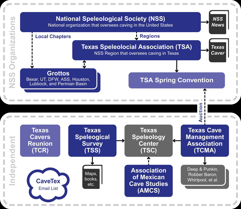 Hierarchy of Texas Caving Organizations