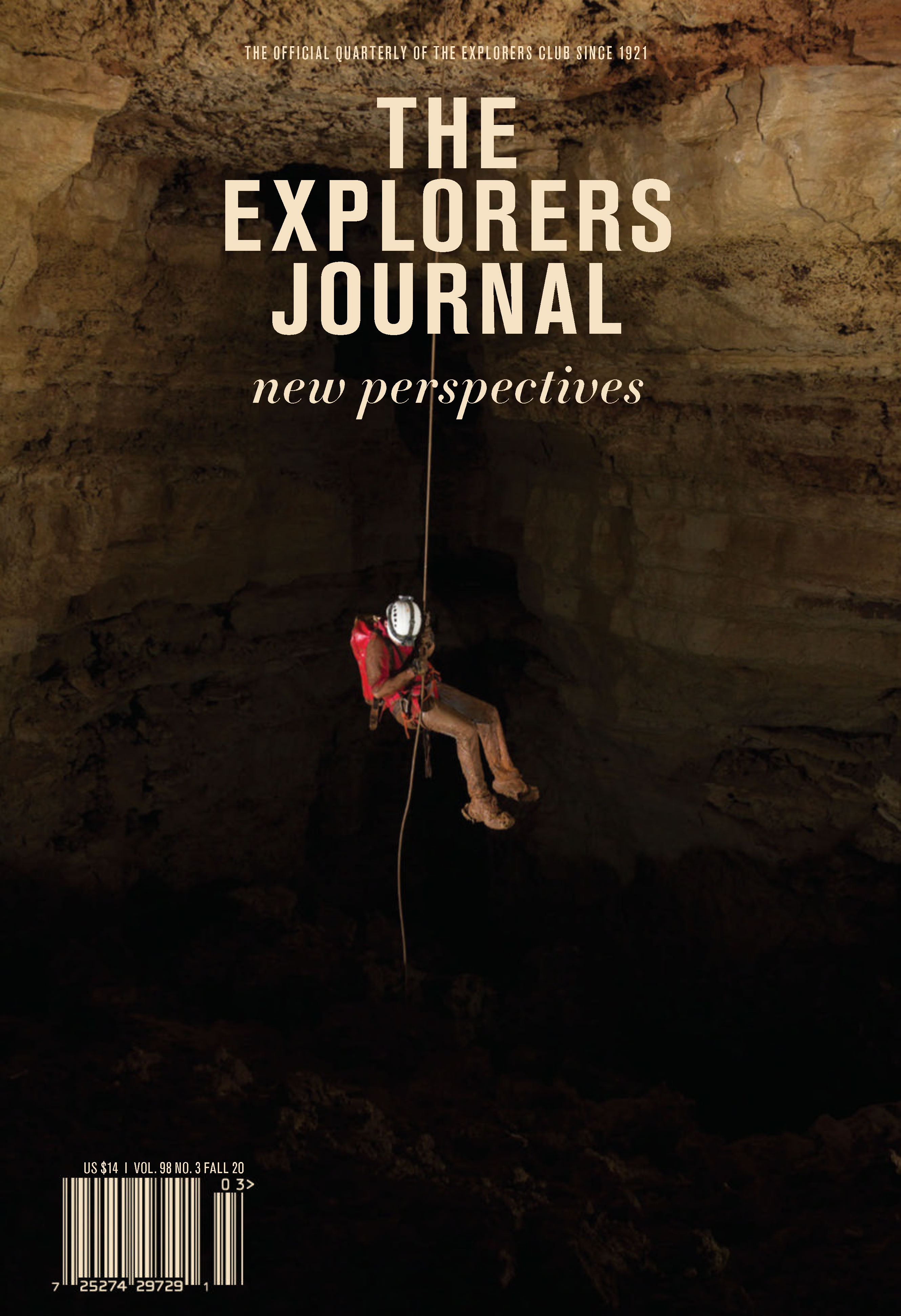 The Explorers Journal, Fall 2020 Cover